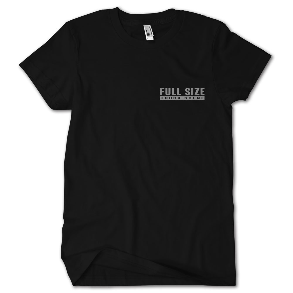 Full size truck scene truck stop ram tshirt low label for Full size t shirt template