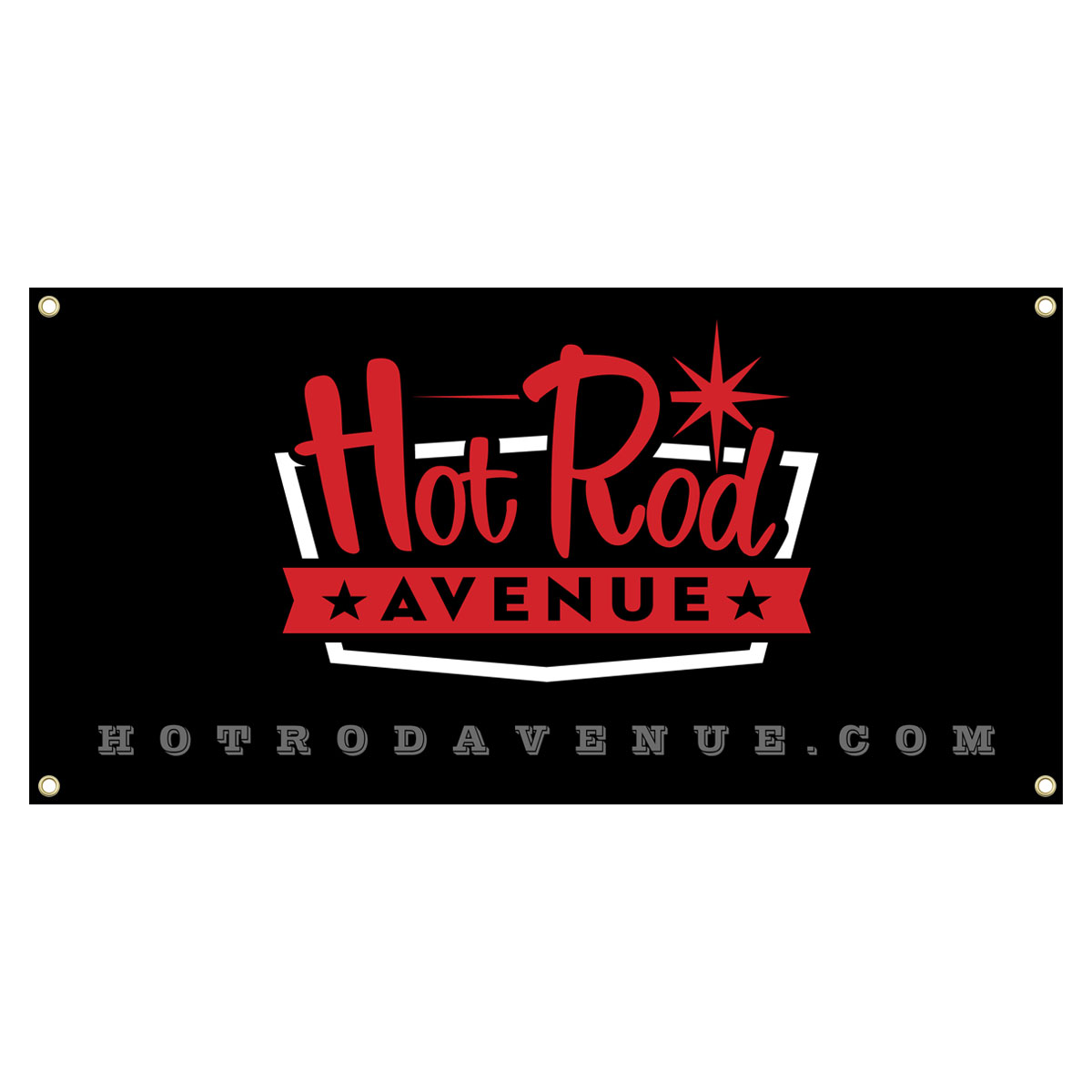 Hot Rod Avenue Vintage Logo Banners Low Label