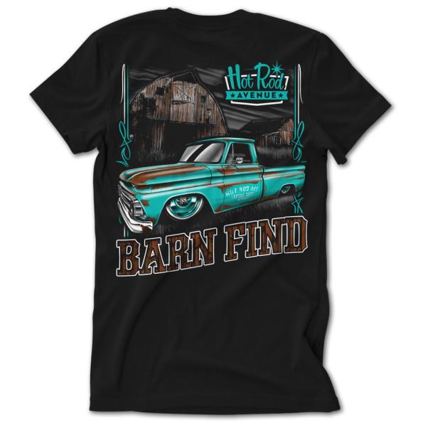 Hot Rod Avenue Teal Barn Find C10 Tshirt
