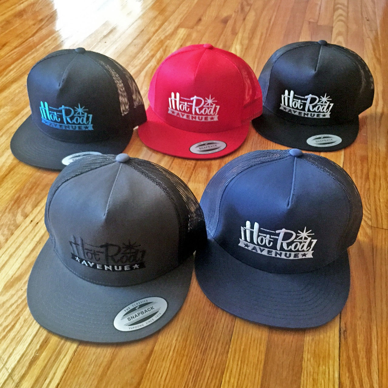 Hot Rod Avenue Classic Flatbill Trucker Hats – Low Label 1816748bc7ce