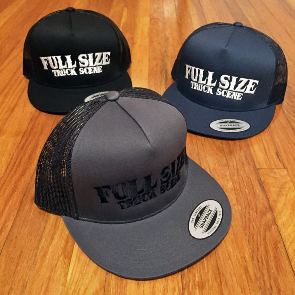 Full Size Truck Scene Classic Flatbill Trucker Hats