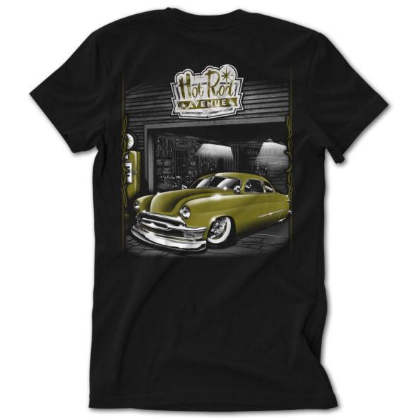 Hot Rod Avenue Army Green Shoebox Ford Tshirt