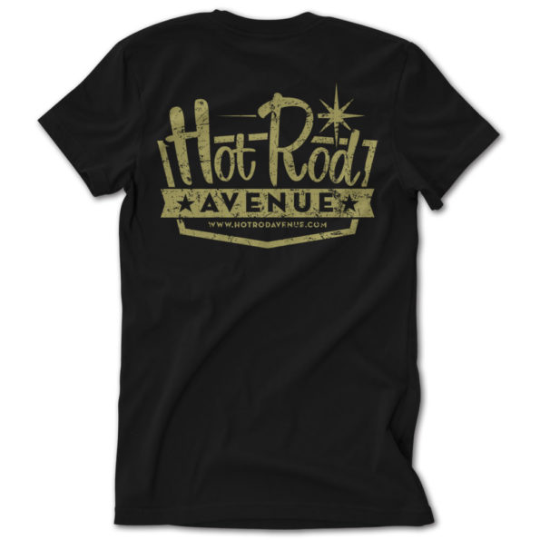 Hot Rod Avenue Black/Gold Vintage Logo Tshirt