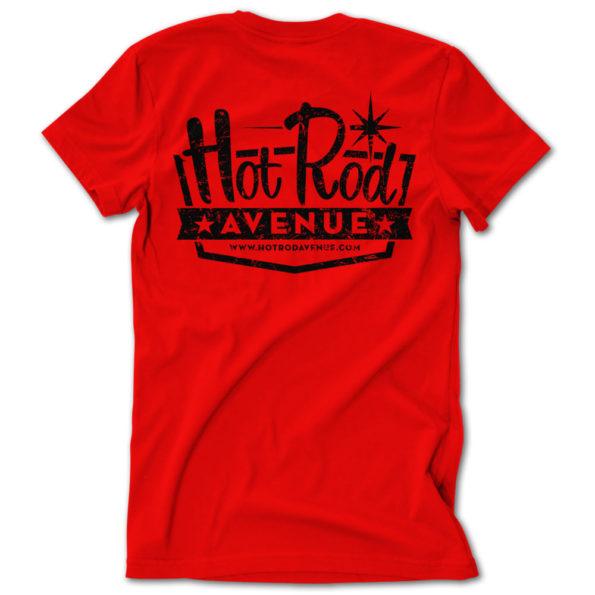 Hot Rod Avenue Red/Black Vintage Logo Tshirt