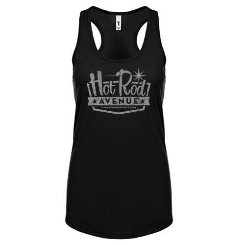 Hot Rod Avenue Women's Black/Silver Tank