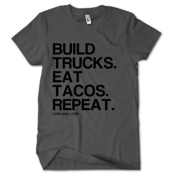 Low Label Build Trucks Eat Tacos Charcoal/Black Tshirt