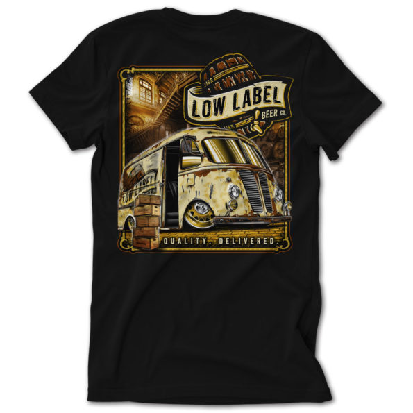 Low Label Beer Delivery Truck Tshirt