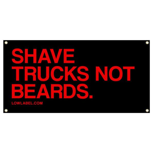 low-label-banner-shave-trucks-beards-black-red
