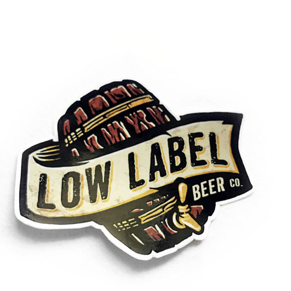Low Label Beer Company Stickers