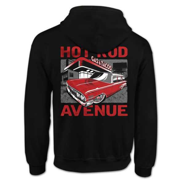 Hot Rod Avenue Red Long Roof Pit Stop Hoody