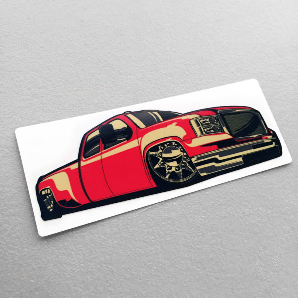 Full Size Truck Scene Red Heavy Load Dually Stickers