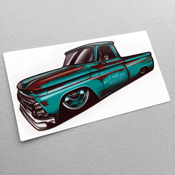 Hot Rod Avenue Teal Barn Find C10 Stickers