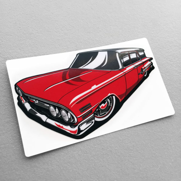 Hot Rod Avenue Red Long Roof Pit Stop Stickers