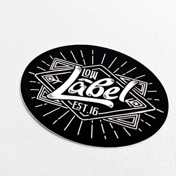 Low Label Black Magic Logo Stickers