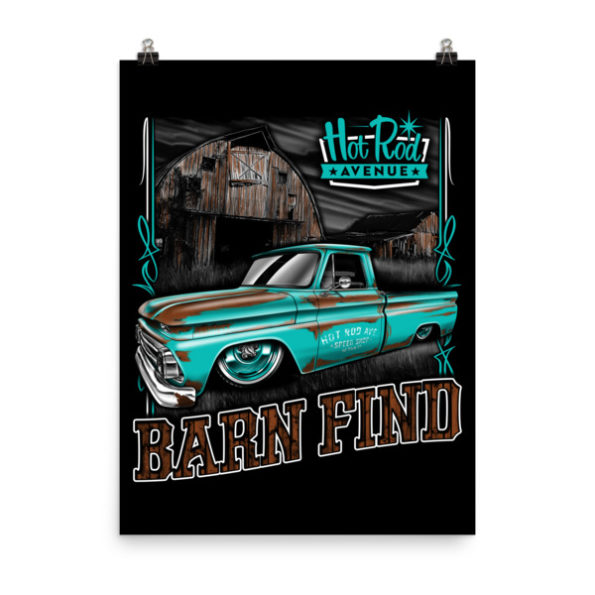 Hot Rod Avenue Teal Barn Find C10 Posters